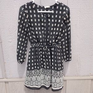 JAPNA SHEER POCKET DRESS WOMENS XS
